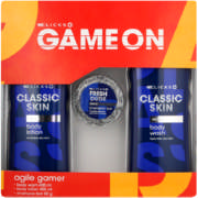Game On Agile Gamer Body Wash 400ml, Body Lotion 400ml & Shampoo Bar 60g