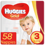 Gold Size 3 Value Pack 58 Nappies