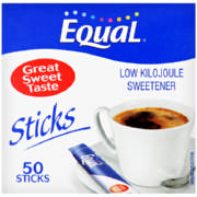 Low Kilojoule Sweetener 50 Sticks 40g