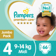 Premium Care Jumbo Pack Size 4 66 Disposable Nappies