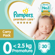 Premium Care New Baby Size 0 30 Disposable Nappies