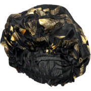 Hair Bonnet Black & Gold