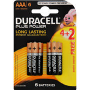 Power Plus AAA Alkaline Batteries 6 Pack