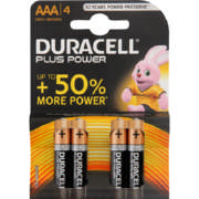 Power Plus 4 AAA Alkaline Batteries