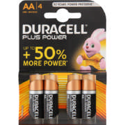 Power Plus AA Alkaline Batteries 4 Batteries