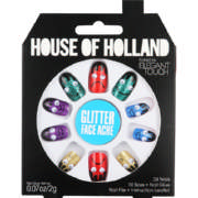 House of Holland Artificial Nails Glitter Face Ache 24 Nails