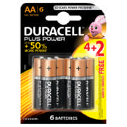 Plus Power AA Batteries 6 Pack