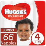Dry Comfort Disposable Nappies Jumbo Pack 66 Nappies