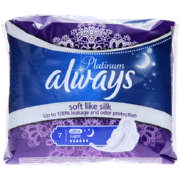 Platinum Sanitary Pads Super Plus Night 7 Pads