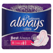 Platinum Sanitary Pads Ultra Super Plus 8 Pads