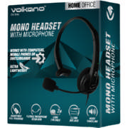 Black Mono Headset With Boom Mic