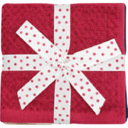 Face Cloth Set Navy, Cranberry, Stone & Cream 4 Piece