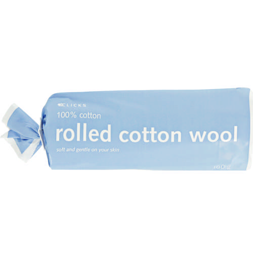 Rolled Cotton Wool 100g