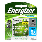 Recharge Extreme AA Rechargeable Batteries 4 Pack