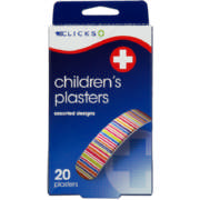 Children's Plasters Assorted Designs 20 Plasters