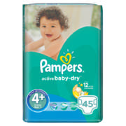 Active Baby-Dry Size 4+ 45 Nappies