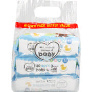 Baby Wipes Sensitive 240 Wipes