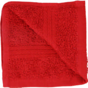 Home Cotton Face Cloth Red