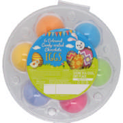 Coloured Candy Coated Hens Eggs 6 Pack
