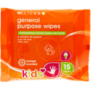 Kids General Purpose Wipes 15