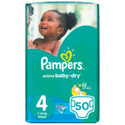 Active Baby-Dry Disposable Nappies Size 4 50 Nappies