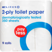 Pay Less 2-Ply Toilet Paper 9 Rolls