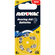 Hearing Aid Batteries Size 10 6 pack