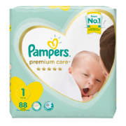 Premium Care Disposable Nappies Value Pack Size 1 88 Nappies