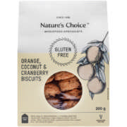 Gluten Free Orange,Coconut And Cranberry Biscuits 200g