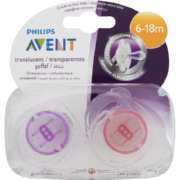 Transculent Orthodontic Soothers 6-18 Months