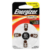 Zinc Air Batteries Size 312 4 Pack