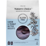 Gluten Free Carob And Peanut Butter Biscuits 200g