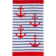 Beach Towel Anchor Stripe 86x160cm