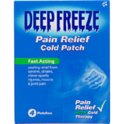 Pain Relief Cold Patch 4 Pack