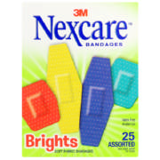 Brights Soft Fabric Bandages 25 Assorted
