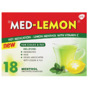 Hot Medication Lemon Menthol With Vitamin C 18 Sachets