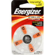 Zinc Air Batteries Size 13 4 Pack
