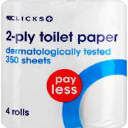 Pay Less 2-ply Toilet Paper 4 Rolls
