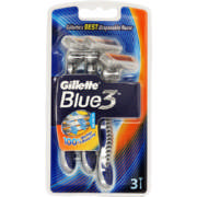 Blue 3 3 Disposable Razors