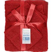 Towel Pack Red 6 Piece