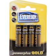 Power Plus Gold AA Batteries 4 Pack