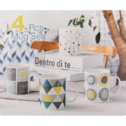 Bone China Geometric 4 Piece
