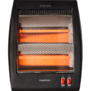 2 Bar Quartz Heater Black