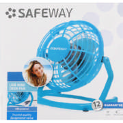10cm Usb Desk Fan Blue