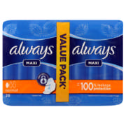 Maxi Sanitary Pads Duo Pack Normal 20 Pads