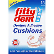 Super Denture Adhesive Cushions 15 strips