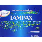 Tampons with Applicator Super 12 Tampons