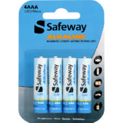 Alkaline AAA Batteries 4 Pack