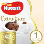 New Baby Extra Care Size 1 42 Nappies