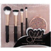 Stylist Makeup Brush Set With Mirror